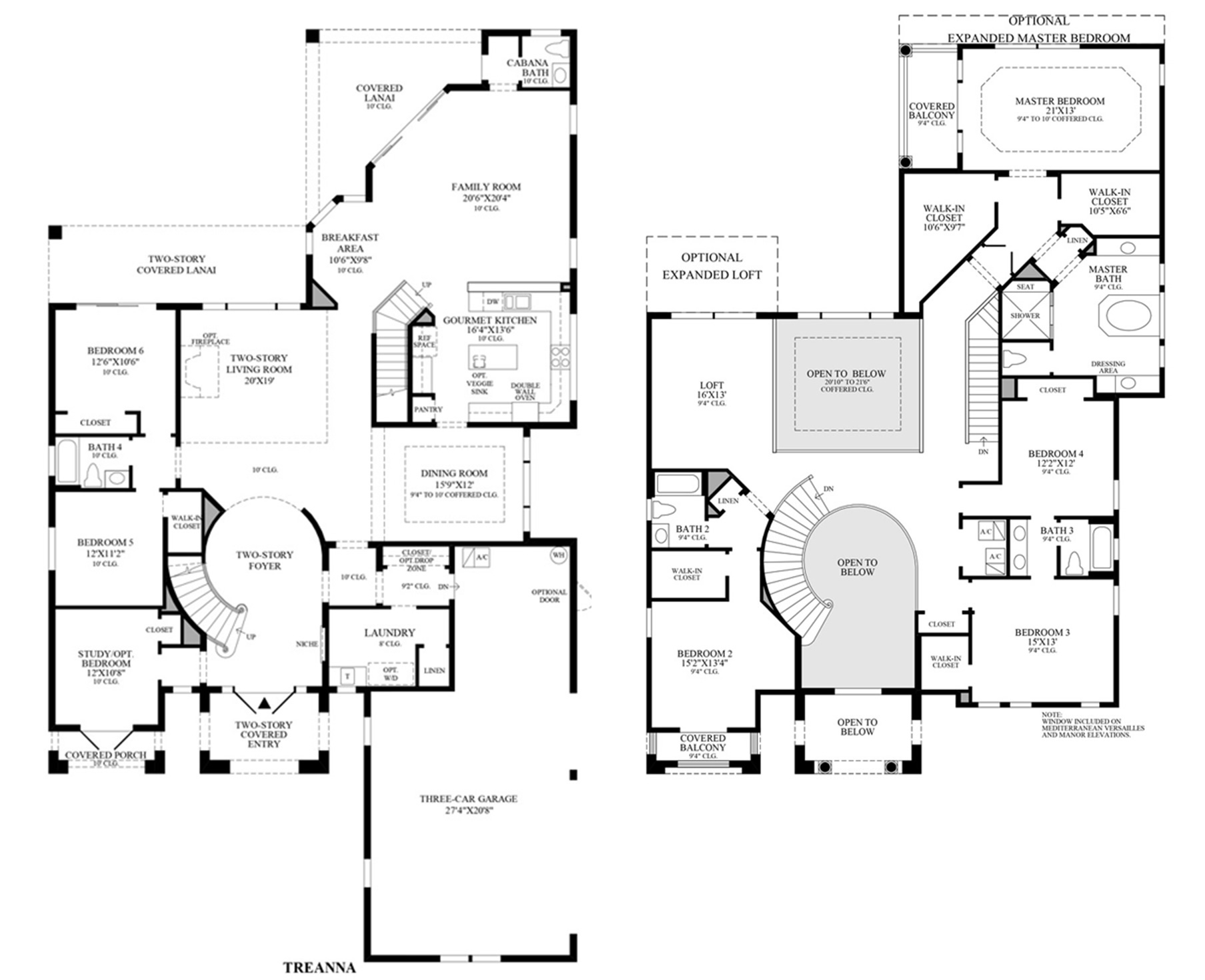 Toll Brothers Carlsbad Floor Plan: Bellaria Windermere, FL 34786 Real Estate & Homes For Sale
